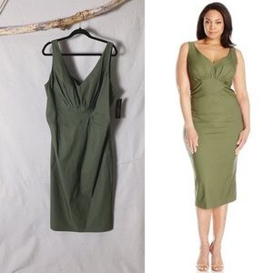 NWT STOP STARING Maeve Wiggle Dress Olive Green